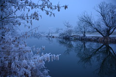Christmas came a little bit later... (*Vasek*) Tags: czech moravia europe frost winter river