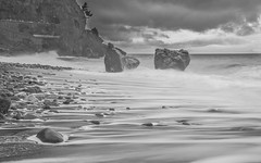 Dramatic mood (Ch.Benabid.Photographies (fb/page)) Tags: tide waves pebbles beach seaside seascape weather sky