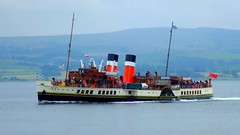 Scotland Greenock the paddle steamer Waverley zooming along video 13 July 2018 by Anne MacKay (Anne MacKay images of interest & wonder) Tags: scotland greenock sea coast clyde paddle steamer waverley xs1 13 july 2018 video by anne mackay