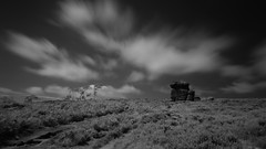 Monochrome infrared shot of Mother Cap, Surprise View, Derbyshire, UK (IP Smith) Tags: monochrome infrared landscape uk derbyshire blackandwhite monochromelandscape atmospheric experimental surpriseview mothercap peaks peakdistrict