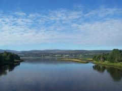 Kyle of Sutherland from Bonar Bridge, July 2018 (allanmaciver) Tags: kyle sutherland bonar bridge blue water clouds scene view trees scotland allanmaciver