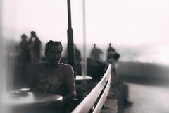 Where do I belong? (Metin Colak) Tags: sea man belonging unhappiness summer cyprus north girne kyrenia leica leicam mandler leitz canada thought thinking cafe