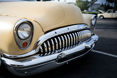1953 Buick Roadmaster (Photos By Clark) Tags: location california elcajon canon2470 canon5div northamerica cities unitedstates locale places where us buick roadmaster modified yellow chrome teeth braces carshow restored 1950s american iron lightroom thesandiegoist