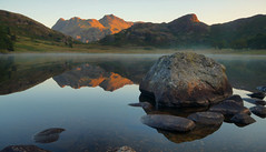 Blea Tarn Sunrise (Andy Watson1) Tags: blea tarn sunrise bleatarn morning early mist langdale pikes langdalepikes reflection calm rock lake district national park lakedistrict cumbria england unitedkingdom greatbritain landscape view scenery scenic photography mountains sidepike harrisonstickle sticklepike canon70d