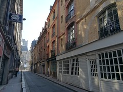 A look down an old street in Rouen
