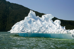 Squiggle Berg (Steve Corey) Tags: leconteglacier iceberg blueice float ocean alaska cold water iceformations h2o tongass national forest