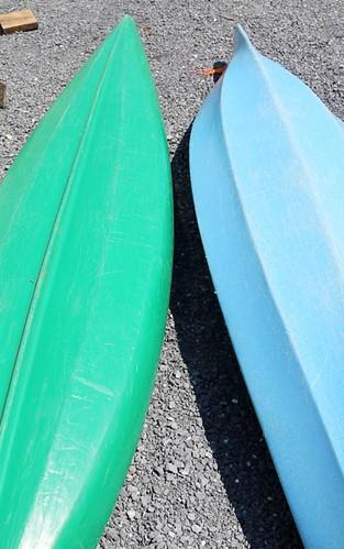 Liquidlogic Green Kayak ($268.80) and Wilderness Systems Pungo Kayak ($246.40)