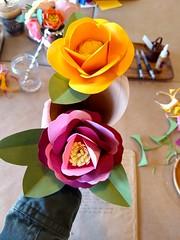 The art of paper flowers (seafoamislands) Tags: paperflowers cardstock artsandcrafts