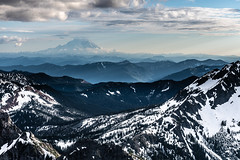 Hazy mountain layers (Brian Xavier) Tags: 2018fortunepeaktrip alpinelakesregion esmeraldabasin fortunepeak teanaway teanawaymountains washingtonstate backpacking brianxavierphotography camping cloud clouds cloudsinthesky cropped dormantvolcano earlysummer fatheranddaughterouting flickr hazydistance hazylayers hiking lateafternoonlight mountrainier mountain mountainlayers mountains optoutside outinnature outdooractivity outdoors outside ruleofthirds snow snowymountains viewfromfortunepeak wilderness