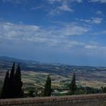 Viale dei Ponti, Volterra - view of distant fields thumbnail