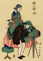 French Photographer in Old Yokohama by Utagawa Yoshikazu (1848-1863), a traditional Japanese illustration of a French photographer and a woman in western clothing. Digitally enhanced from our own original edition. (Free Public Domain Illustrations by rawpixel) Tags: otherkeywords ancient arts artwork asia asian camera clothes costume cultural culture drawing dress eastern fashion fineprints foreign foreignvisitors foreigner french frenchphotographer historical history illustrations image japan japanese japaneseart locimage man old oldyokohama paints people photograph photographer prints retro traditional utagawa utagawayoshikazu vintage visitors westerner woman woodblock woodcut yokohama yoshikazu