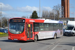 First Potteries 65731 YN05HCX (Will Swain) Tags: crewe station 19th march 2018 cheshire north west south county bus buses transport travel uk britain vehicle vehicles country england english first potteries 65731 yn05hcx pmt stoke hanley group