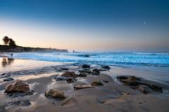 Sunrise, 4 mile beach, Santa Cruz, California (jackanapes) Tags: northamerica usa california santacruz surf morning sunrise moon