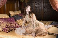 Beauty in bed (piotr_szymanek) Tags: kasia kasiat studio portrait woman young skinny freckles boudoir bed transparent dress longhair face eyesoncamera pillow 1k 20f 50f 5k 10k 20k