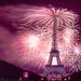 14 juillet 2018 - feu d'artifice de la fête nationale tirée depuis le champ de Mars à Paris par le Groupe F