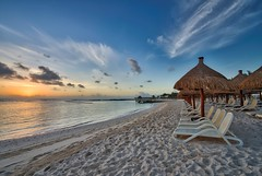 Dreaming (Brook-Ward) Tags: hdr brook ward puerto morelos mexico sunset sunrise beach sand chairs sky clouds travel vacation holiday