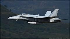 "CF-18 hornet (DaveChapman ""If it flies,I shoot it"") Tags: cf18 hornet rcaf f18 canada flying fighter lowlevel lfa7 loop lowfly military militaryaircraft machloop wales nikon nwmta nikon600mmf4vr nikond810 roundabout"