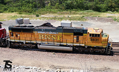 BNSF 8831 (SD70MAC) (KansasScanner) Tags: bnsf up fxe mopac 1982 up1982 sd70mac kansascity kansas edwardsville bonnersprings loring train railroad railfanning railfan