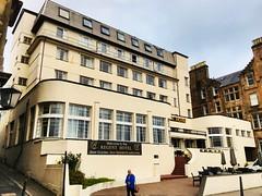 The Art-Deco Regent Hotel in Oban. (Bennydorm) Tags: 4000views uk accommodation seafront resort iphone6s luglio juli julio juillet july lascozia schottland escocia ecosse scotland oban 20thcentury 1930's artdeco hotel buildings building