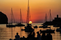 Everyone loves a sunset (tiggerpics2010) Tags: mallorca portdesoller harbour anchor mooring sailing holiday relax silhouette beauty serenity breathtaking lovely gorgeous