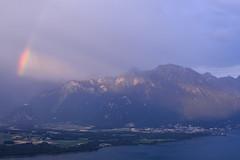 (Leela Channer) Tags: rainbow nature landscape scenery waterscape lac léman mountains hills france switzerland sky sunrise morning light