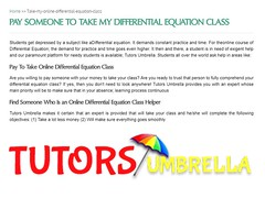 Take Online Differential Equation Class For Me (tutorsumbrellapromotion) Tags: take online differential equation class for me