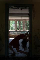Elena 7 (xfoTOkex) Tags: silhouette lost place woman body language black dancer girl nikon d800 dress posing