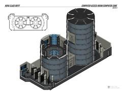 computeraccessroom-nova (fadmvulcan) Tags: startrek interior federation isometric schematic illustration drawing