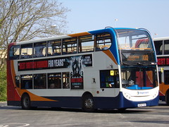 Stagecoach Midlands ADL Enviro 400 (ADL Trident) 19083 MX56 FUA on route X10 to Market Harborough via Kettering (Alex S. Transport Photography) Tags: bus outdoor road vehicle stagecoach stagecoachmidlandred stagecoachmidlands adlenviro400 enviro400 e400 adltrident route x10 19083 mx56fua