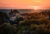 Montagnieu (Stéphane Sélo Photographies) Tags: france montagnieu paysage pentax pentaxk3ii sigma1750f28 ain blending bugey couchant coucherdesoleil landscape montage sunlight sunset