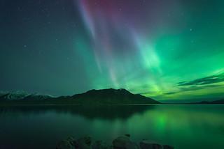 Aurora Over Sheep Mountain