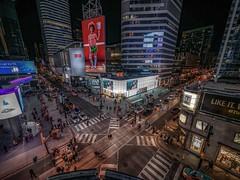 Yonge-Dundas square (karinavera) Tags: city night photography cityscape urban ilcea7m2 street canada yongedundassq toronto