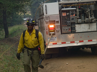 Engine Crews Work on Little Bear Fire