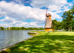 Windmill La Portage (allansoul) Tags: 2018 portagelaprairie nature water tourist lake manitoba fujifilm hdr summer 1855mm grass old xt20 view views green photomatix parks picnic park windmill canada