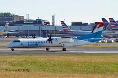 de-Havilland (Canada) DHC-8 402Q LX-LGG Luxair (EI-DTG) Tags: dash8 dehavillandcanada dhc8 lxlgg eidw dublinairport collinstown turboprop luxair