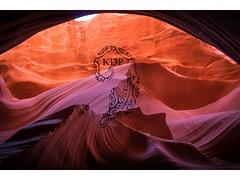 Smooth Move (Kimo Diaz Photography) Tags: arizona antelopecanyon light landscape travel outdoor underground red orange purple hike curves beautiful art nature happy tones dramatic moody brushstrokes paintbrush kimodiaz kimo diaz photography