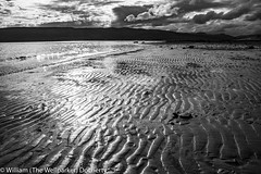 Lunderston Bay Low Tide Low Sun (The Wellparker 2018) Tags: k1 pentax clyde lunderstonbay monochrome sand