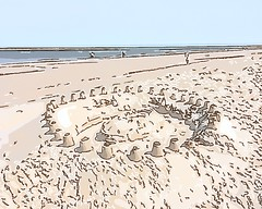 Sandburg (Jörg Paul Kaspari) Tags: meer strand baltrum sandburg