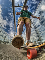 Kick.....Push.......(and Coast) (D-W-J-S) Tags: flickr skate longboard longboarding skateboard skateboarding hdr canon self selfie portrait