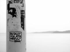 kiel_P7180988 (2) (ghoermann) Tags: deutschland düsternbrook kiel schleswigholstein deu sticker streetart poetry