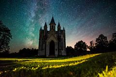 A fairytale church (free3yourmind) Tags: fairytale fairy tale church milky way night sky stars starry orthodox castle belarus nature dark fog clouds