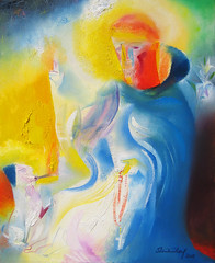 Saint Dominic. 2018 by Stephen B. Whatley (Stephen B. Whatley) Tags: art expresssionism painting contemporaryart modernart abstractexpressionism catholic stdominic saintdominic astronomy justice peace dog terrier lilies whitelilies dominicans oilpainting paintingsfromprayer prayer stephenbwhatley artiststephenwhatley whatley artiststephenbwhatley christian god stars galaxy light fire torch rosary rosarybeads cross crucifix toweroflondon towerhill towerhillunderpass towerhillstation abstract abstraction abigfave blueribbonwinner