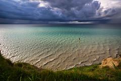 Storm Clouds Coming (downstreamer) Tags: claycliffs lakemichigan leelanau samyang12mm sky leland michigan unitedstates us