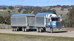 Hume BINS (1/4) (Jungle Jack Movements (ferroequinologist)) Tags: tipper tip bin dump dumpers jerrawa nsw yass new south wales australia kenworth volvo western star hp horsepower gear oil haul haulage freight cabover trucker drive transport carry delivery bulk lorry hgv wagon road highway nose semi trailer deliver cargo interstate articulated vehicle load freighter ship move roll motor engine power teamster truck tractor prime mover diesel injected driver cab cabin loud rumble beast hood fast brake wheel exhaust double b grunt