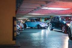 Night moves (WeekendPlayer) Tags: car beetle night moves traffic vehicle ceiling building otopark autopark park auto vw istanbul tr turkey city classic