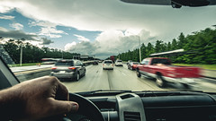 The Race Home (3rd-Rate Photography) Tags: driving car truck van automobile automotive dashboard pointofview pov traffic road highway interstate canon 1635mm jacksonville florida 3rdratephotography earlware 365