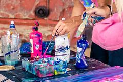 Colorful Mess (rg69olds) Tags: 06102018 35mm 5dmk4 canoneos5dmarkiv nebraska sigma35mmf14artdghsm artfestval canon downtown oldmarket omaha sigma painting colorful hands brushes streetartist 35mmf14dghsm|a