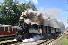 2018-06-30 Steam Locomotive in Jindřichův Hradec (beranekp) Tags: czech jindřichův hradec steam dampf železnice railway eisenbahn lokomotiva locomotive