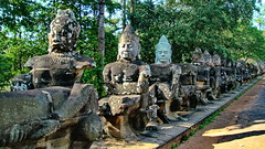 Angkor Thom Gate Guards (gerard eder) Tags: world travel reise viajes asia southeastasia cambodia angkor angkorwat ankorbayon statues archeology archeologie arqueologia ruins ruinen ruinas temple templos tempel outdoor