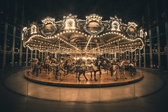 The Spinning Time (DazerVin Photography) Tags: nightphotography nighttime nikond810 d810 1424mm carousel nyc dumbo brookly nikon